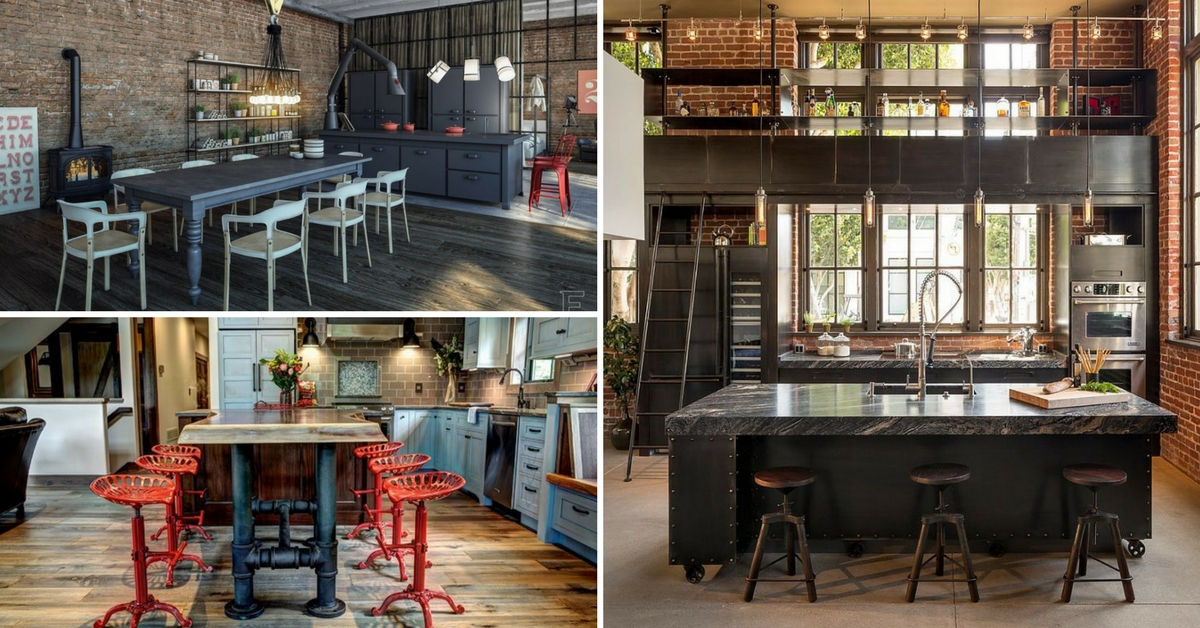 13 Industrial Style Kitchens That You Will Fall In Love